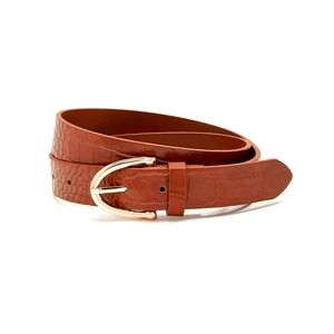 🌺2/$35 Textured Belt. Size Small/Medium. Cognac.